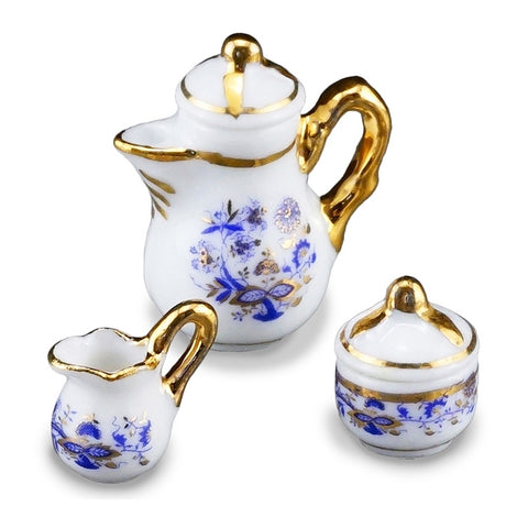 Blue Onion Coffee Pot Set