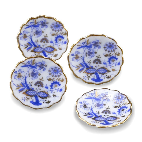 Blue Onion Dinner Plate Set for 4