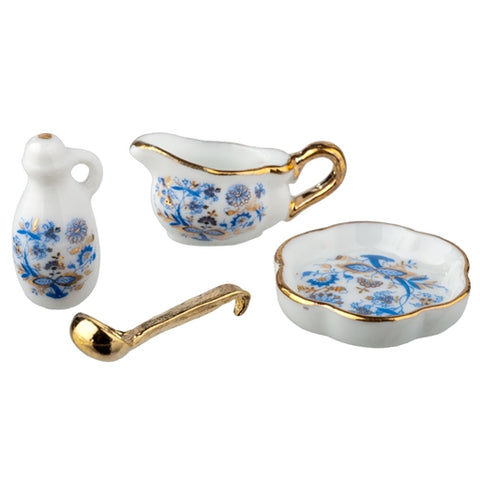 Blue Onion Serving Set by Reutter Porzellan