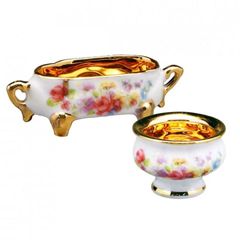 Pair of Reutter Porcelain Bowls
