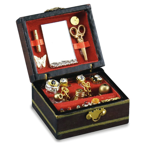 Deluxe Wooden Filled Jewelry Box