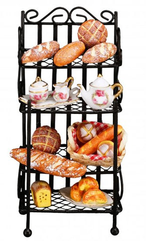 Bakers Rack, Filled with Goods