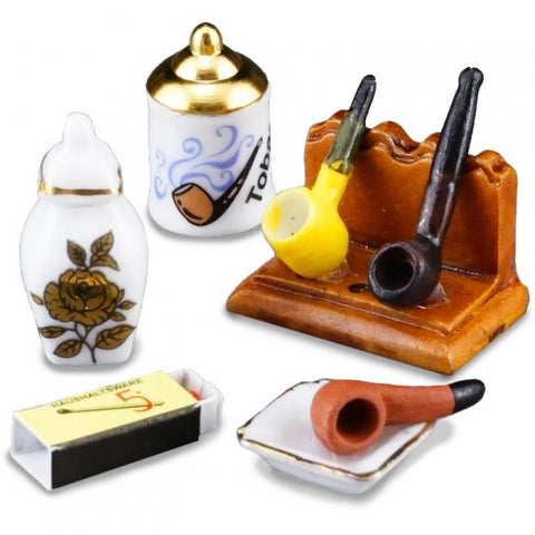 Gentleman's Pipe and Tobacco Set by Reutter Porzellan