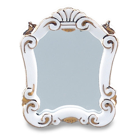 Classic White and Gold Baroque Mirror
