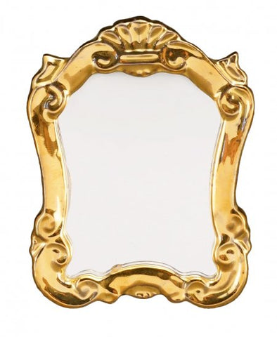 Baroque Mirror, Porcelain Frame