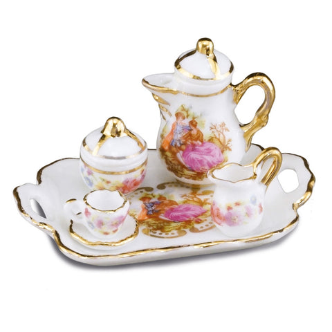 Baroque Coffee Set w/Tray