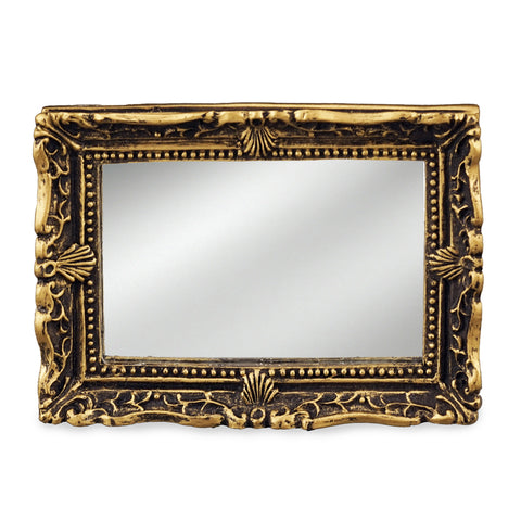 Rectangular Mirror with Aged Gold Frame