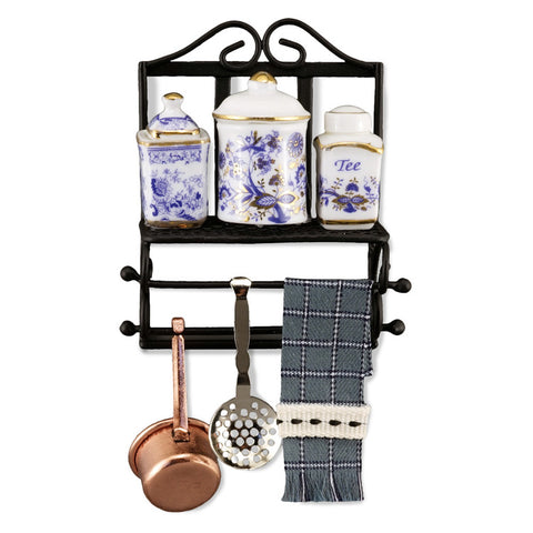 Blue Onion Kitchen Rack Set by Reutter