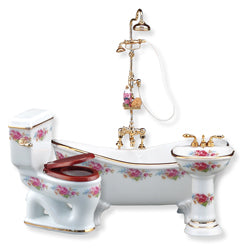 Dresden Rose Bath Set by Reutter Porcelain
