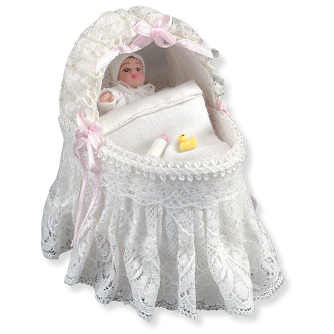 Bassinet, Lace, by Reutter Porcelain