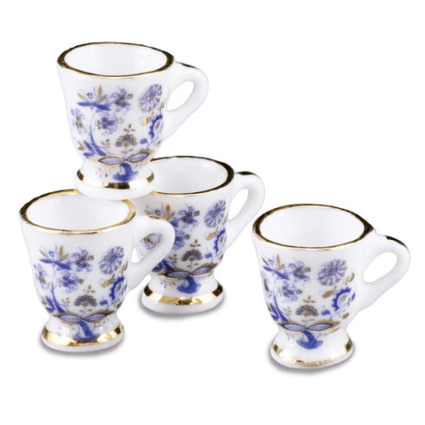 Blue Onion Porcelain Mug Set