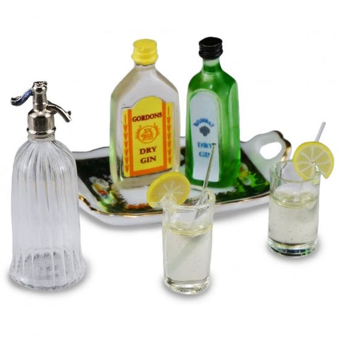 Gin and Tonic Set with Two Glasses