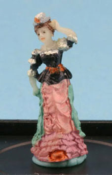 Victorian Lady figurine in Orchid by Jeannetta Kendall