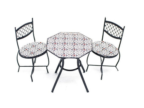 Bistro Table and Chairs, Three Piece Tiled