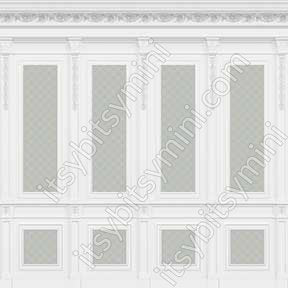 French Wall Panel Boiserie, Blue Aqua