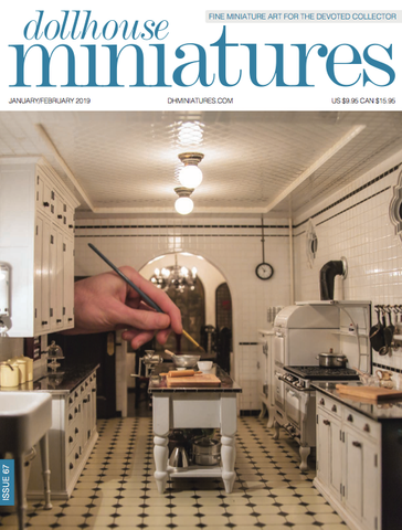 Dollhouse Miniatures Magazine January/February 2019