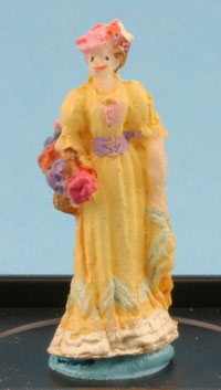 Victorian Lady statuette in yellow by Jeannetta Kendall