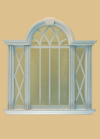 Cambridge Decorated Double Window, White,  On Sale