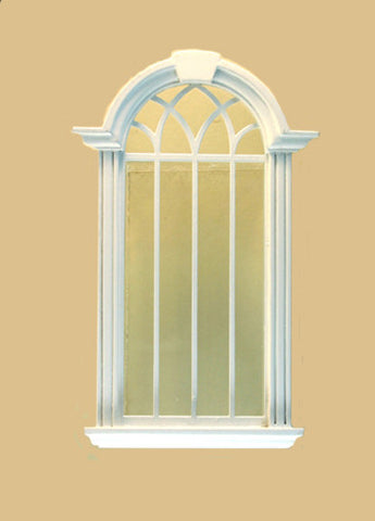 Cambridge Decorated Single Window, White