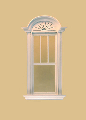 Newport Decorated Single Window, White ON SALE