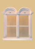 Newport Plain Double Window, White