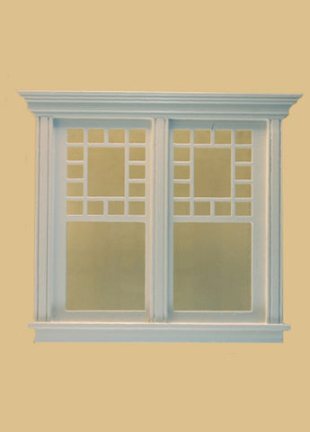Atherton Double Window, White