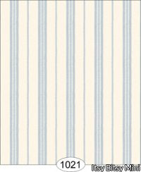 Satin Stripe, Blue and Ivory Wallpaper