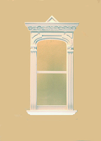 Golden Gate Decorated Single Window, White