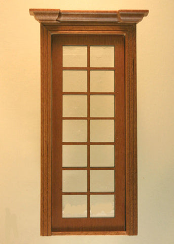 Classic Single French Door, Walnut Finish