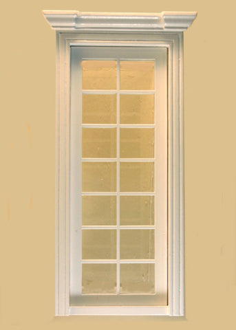 Classic Single French Door, White