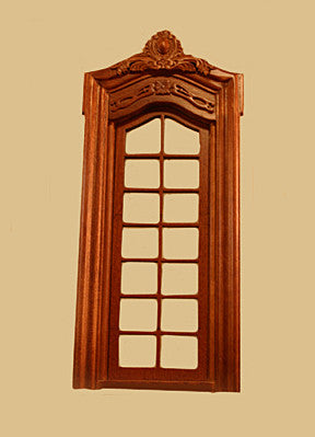 Full Scale Pollinade French Single Door, Walnut Finish