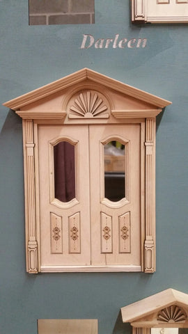 Darleen single light / 2 panel exterior French Victorian door 1:12 American Walnut