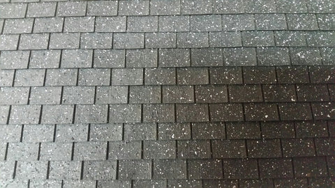 Black and Pepper Squarebutt Asphalt Shingles 1:12 scale