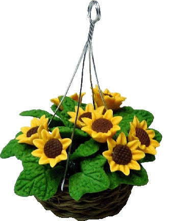 Hanging Basket of Sunflowers
