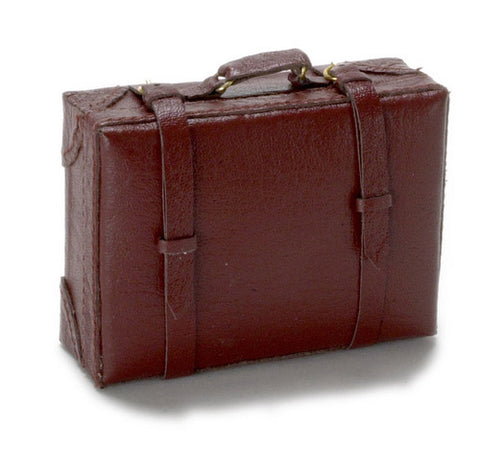 Large  Leather Suitcase, Brown