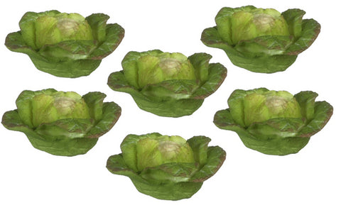 Cabbage, Set of Six, Green