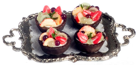 Fruit Cups on Serving Tray