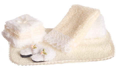 Bath Linen Accessory Set, Beige