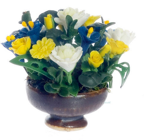 Floral Arrangement, Blue and Yellow