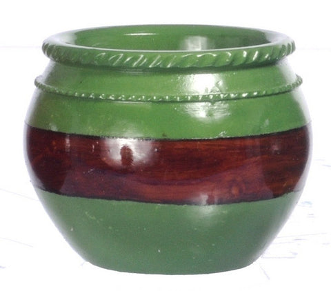 Planter, Green and Brown, Large