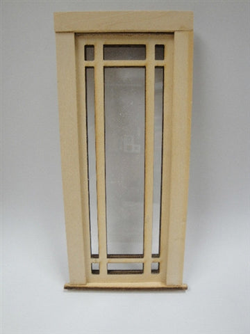 Door with Prairie Style Pane