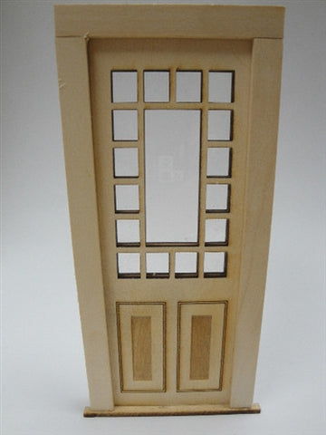 Door with Multi-Pane Transom