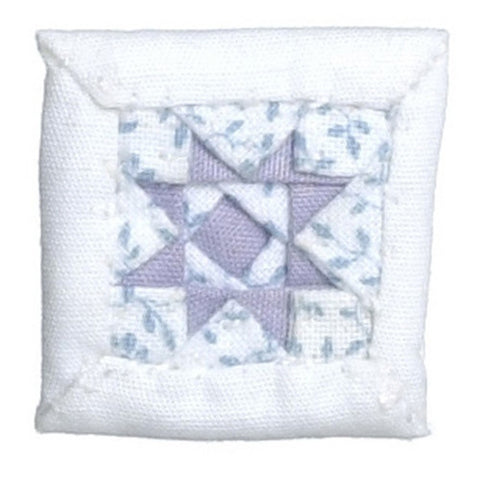 White and Purple Quilted Pillow