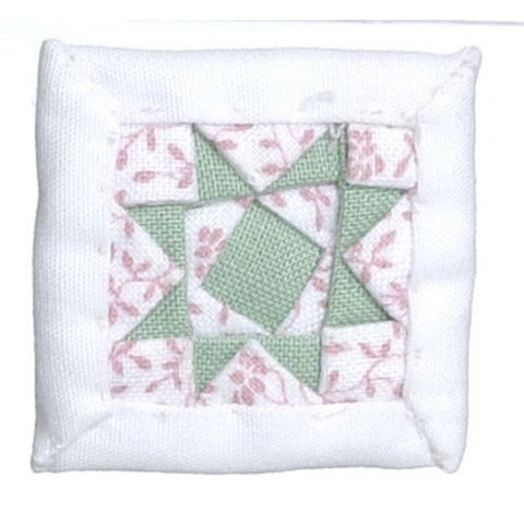 Pink and Green Quilted Pillow