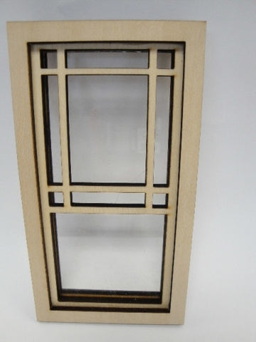 Prairie Style Window with Square Design