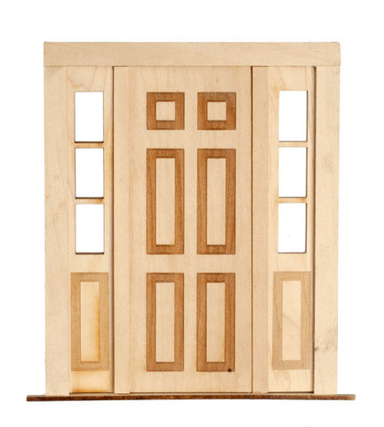 Door with Sidelights, Traditional