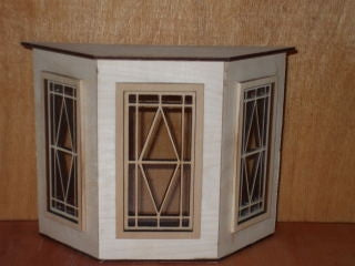 Bay Window with Diamond Pane Design