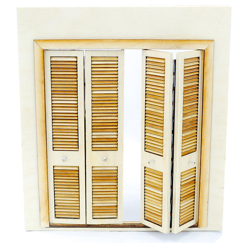Folding Closet Doors, Louvered