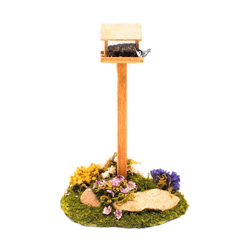 Bird Feeder with Bird and Landscaping