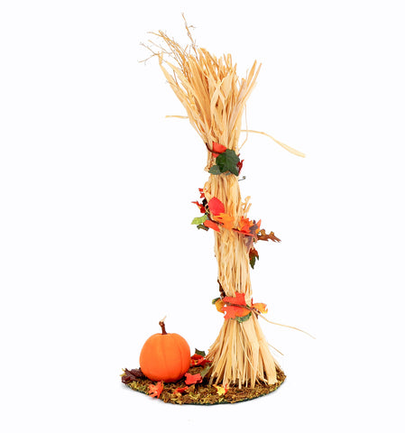 Corn Stalk with Pumpkin